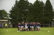 17 June 2018; The Galway squad warm up on the back pitch before the Connacht GAA Football Senior Championship Final match between Roscommon and Galway at Dr Hyde Park in Roscommon. Photo by Piaras Ó Mídheach/Sportsfile