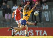 22 June 2018; Chris Óg Jones of Cork in action against Mark Meaney of Clare during the EirGrid Munster GAA Football U20 Championship semi-final match between Cork and Clare at Páirc Uí Rinn in Cork. Photo by Piaras Ó Mídheach/Sportsfile
