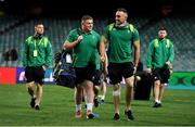 23 June 2018; Tadhg Furlong, left, and Jack Conan of Ireland arrive prior to the 2018 Mitsubishi Estate Ireland Series 3rd Test match between Australia and Ireland at Allianz Stadium in Sydney, Australia. Photo by Brendan Moran/Sportsfile