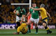 23 June 2018; CJ Stander of Ireland is tackled by Kurtley Beale of Australia during the 2018 Mitsubishi Estate Ireland Series 3rd Test match between Australia and Ireland at Allianz Stadium in Sydney, Australia. Photo by Brendan Moran/Sportsfile