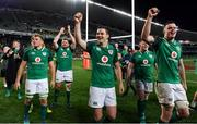 23 June 2018; Ireland players, from left, Jordi Murphy, Niall Scannell, Jonathan Sexton, and James Ryan celebrate after the 2018 Mitsubishi Estate Ireland Series 3rd Test match between Australia and Ireland at Allianz Stadium in Sydney, Australia. Photo by Brendan Moran/Sportsfile