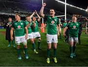 23 June 2018; Ireland players, from left, Peter O'Mahony, Jordi Murphy, Jacob Stockdale, Niall Scannell, Jonathan Sexton, and Tadhg Furlong celebrate after the 2018 Mitsubishi Estate Ireland Series 3rd Test match between Australia and Ireland at Allianz Stadium in Sydney, Australia. Photo by Brendan Moran/Sportsfile