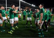 23 June 2018; The Ireland team, including Jonathan Sexton, Bundee Aki, Tadhg Furlong and James Ryan celebrate after the 2018 Mitsubishi Estate Ireland Series 3rd Test match between Australia and Ireland at Allianz Stadium in Sydney, Australia. Photo by Brendan Moran/Sportsfile