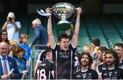 23 June 2018; Gerard O'Kelly-Lynch of Sligo lifts the cup following his side's victory in the Lory Meagher Cup Final match between Lancashire and Sligo at Croke Park in Dublin. Photo by David Fitzgerald/Sportsfile