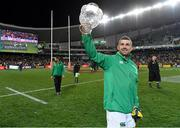 23 June 2018; Rob Kearney of Ireland celebrates with the Lansdowne Cup after the 2018 Mitsubishi Estate Ireland Series 3rd Test match between Australia and Ireland at Allianz Stadium in Sydney, Australia. Photo by Brendan Moran/Sportsfile