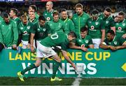 23 June 2018; Jonathan Sexton of Ireland with the Lansdowne Cup after the 2018 Mitsubishi Estate Ireland Series 3rd Test match between Australia and Ireland at Allianz Stadium in Sydney, Australia. Photo by Brendan Moran/Sportsfile