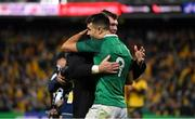 23 June 2018; Ireland captain Peter O'Mahony, right, and Conor Murray celebrate after the 2018 Mitsubishi Estate Ireland Series 3rd Test match between Australia and Ireland at Allianz Stadium in Sydney, Australia. Photo by Brendan Moran/Sportsfile