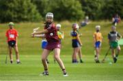23 June 2018; Leah Cummins from Turloughmore GAA Club in Co. Galway in action during the John West Skills Day in the National Sports Campus on Saturday 23rd June. The Skills Day is an opportunity for Ireland's rising football, hurling & camogie stars to show their skills as part of the John West Féile na nÓg and John West Féile na nGael competitions. At the National Sports Campus in Blanchardstown, Dublin. Photo by Seb Daly/Sportsfile