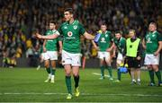 23 June 2018; Jonathan Sexton of Ireland reacts during a TMO review in the final seconds of the 2018 Mitsubishi Estate Ireland Series 3rd Test match between Australia and Ireland at Allianz Stadium in Sydney, Australia. Photo by Brendan Moran/Sportsfile