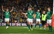 23 June 2018; Jonathan Sexton of Ireland, centre, reacts during a TMO review in the final seconds of the 2018 Mitsubishi Estate Ireland Series 3rd Test match between Australia and Ireland at Allianz Stadium in Sydney, Australia. Photo by Brendan Moran/Sportsfile