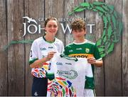 23 June 2018; Keltyn Molloy from Lixnaw GAA Club in Co. Kerry pictured with Dublin Camogie player Eve O'Brien at the John West Skills Day in the National Sports Campus on Saturday 23rd June. The Skills Day is an opportunity for Ireland's rising football, hurling & camogie stars to show their skills as part of the John West Féile na nÓg and John West Féile na nGael competitions. At the National Sports Campus in Blanchardstown, Dublin. Photo by Seb Daly/Sportsfile