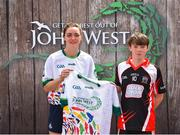 23 June 2018; Robert O'Kelly-Lynch from Naomh Eoin GAA Club in Co. Sligo pictured with Dublin Camogie player Eve O'Brien at the John West Skills Day in the National Sports Campus on Saturday 23rd June. The Skills Day is an opportunity for Ireland's rising football, hurling & camogie stars to show their skills as part of the John West Féile na nÓg and John West Féile na nGael competitions. At the National Sports Campus in Blanchardstown, Dublin. Photo by Seb Daly/Sportsfile