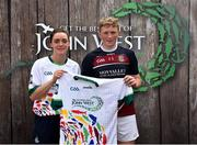 23 June 2018; Eoin Sheehan from Broadford GAA Club in Co. Kildare pictured with Dublin Camogie player Eve O'Brien at the John West Skills Day in the National Sports Campus on Saturday 23rd June. The Skills Day is an opportunity for Ireland's rising football, hurling & camogie stars to show their skills as part of the John West Féile na nÓg and John West Féile na nGael competitions. At the National Sports Campus in Blanchardstown, Dublin. Photo by Seb Daly/Sportsfile