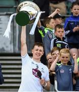23 June 2018; Kildare captain Brian Byrne lifts the cup following the Christy Ring Cup Final match between London and Kildare at Croke Park in Dublin. Photo by David Fitzgerald/Sportsfile