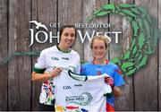 23 June 2018; Laci-Jane Shannon from Tinahely GAA Club in Co. Wicklow pictured with Dublin Camogie player Grainne Quinn at the John West Skills Day in the National Sports Campus on Saturday 23rd June. The Skills Day is an opportunity for Ireland's rising football, hurling & camogie stars to show their skills as part of the John West Féile na nÓg and John West Féile na nGael competitions. At the National Sports Campus in Blanchardstown, Dublin. Photo by Seb Daly/Sportsfile