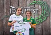 23 June 2018; Ellen O'Donoghue from Causeay GAA Club in Co. Kerry pictured with Dublin Camogie player Grainne Quinn at the John West Skills Day in the National Sports Campus on Saturday 23rd June. The Skills Day is an opportunity for Ireland's rising football, hurling & camogie stars to show their skills as part of the John West Féile na nÓg and John West Féile na nGael competitions. At the National Sports Campus in Blanchardstown, Dublin. Photo by Seb Daly/Sportsfile