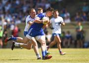 23 June 2018; Shane Carey of Monaghan in action against Brian Looby of Waterford during the GAA Football All-Ireland Senior Championship Round 2 match between Waterford and Monaghan at Fraher Field in Dungarvan, Waterford. Photo by Daire Brennan/Sportsfile