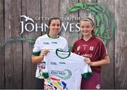 23 June 2018; Leah Cummins from Turloughmore GAA Club in Co. Galway pictured with Dublin Camogie player Grainne Quinn at the John West Skills Day in the National Sports Campus on Saturday 23rd June. The Skills Day is an opportunity for Ireland's rising football, hurling & camogie stars to show their skills as part of the John West Féile na nÓg and John West Féile na nGael competitions. At the National Sports Campus in Blanchardstown, Dublin. Photo by Seb Daly/Sportsfile