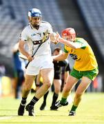 23 June 2018; Donncha Kennedy of Warwickshire in action against Pádhraig Doherty of Donegal during the Nicky Rackard Cup Final match between Donegal and Warwickshire at Croke Park in Dublin. Photo by David Fitzgerald/Sportsfile