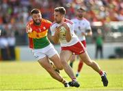 23 June 2018; Niall Sludden of Tyrone in action against Shane Redmond of Carlow during the GAA Football All-Ireland Senior Championship Round 2 match between Carlow and Tyrone at Netwatch Cullen Park in Carlow. Photo by Matt Browne/Sportsfile