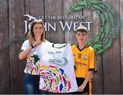 23 June 2018; Gearoid Mulvihill from Listowel GAA Club in Co. Kerry pictured with Roscommon Ladies Footballer Amanda McLoone at the John West Skills Day in the National Sports Campus on Saturday 23rd June. The Skills Day is an opportunity for Ireland's rising football, hurling & camogie stars to show their skills as part of the John West Féile na nÓg and John West Féile na nGael competitions. At the National Sports Campus in Blanchardstown, Dublin. Photo by Seb Daly/Sportsfile