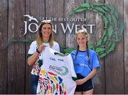 23 June 2018; Ellie Carr from Mayobridge GAA Club in Co. Down pictured with Roscommon Ladies Footballer Amanda McLoone at the John West Skills Day in the National Sports Campus on Saturday 23rd June. The Skills Day is an opportunity for Ireland's rising football, hurling & camogie stars to show their skills as part of the John West Féile na nÓg and John West Féile na nGael competitions. At the National Sports Campus in Blanchardstown, Dublin. Photo by Seb Daly/Sportsfile