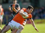 23 June 2018; Aidan Forker of Armagh in action against Neil Ewing of Sligo  during the GAA Football All-Ireland Senior Championship Round 2 match between Sligo and Armagh at Markievicz Park in Sligo. Photo by Oliver McVeigh/Sportsfile