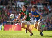 23 June 2018; Cillian O'Connor of Mayo in action against Shane O'Connell of Tipperary during the GAA Football All-Ireland Senior Championship Round 2 match between Tipperary and Mayo at Semple Stadium in Thurles, Tipperary. Photo by Ray McManus/Sportsfile