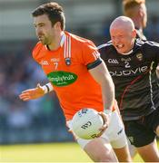23 June 2018; Aidan Forker of Armagh in action against Charles Harrison of Sligo during the GAA Football All-Ireland Senior Championship Round 2 match between Sligo and Armagh at Markievicz Park in Sligo. Photo by Oliver McVeigh/Sportsfile