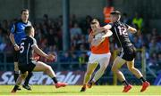 23 June 2018; Charlie Vernon of Armagh in action against Patrick O'Connor of Sligo during the GAA Football All-Ireland Senior Championship Round 2 match between Sligo and Armagh at Markievicz Park in Sligo. Photo by Oliver McVeigh/Sportsfile