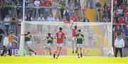 23 June 2018; Jamie O'Sullivan of Cork scores his side's first goal during the Munster GAA Football Senior Championship Final match between Cork and Kerry at Páirc Ui Chaoimh in Cork. Photo by Stephen McCarthy/Sportsfile