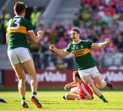 23 June 2018; Stephen O'Brien of Kerry celebrates after scoring his side's first goal during the Munster GAA Football Senior Championship Final match between Cork and Kerry at Páirc Ui Chaoimh in Cork. Photo by Stephen McCarthy/Sportsfile
