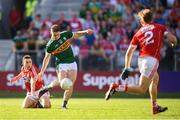 23 June 2018; Stephen O'Brien of Kerry shoots to score his side's first goal during the Munster GAA Football Senior Championship Final match between Cork and Kerry at Páirc Ui Chaoimh in Cork. Photo by Stephen McCarthy/Sportsfile