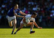23 June 2018; Éanna O'Connor of Kildare in action against Patrick Fox of Longford during the GAA Football All-Ireland Senior Championship Round 2 match between Longford and Kildare at Glennon Brothers Pearse Park in Longford. Photo by Piaras Ó Mídheach/Sportsfile