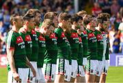 23 June 2018; The Mayo players stand together during the playing of the National Anthem before the GAA Football All-Ireland Senior Championship Round 2 match between Tipperary and Mayo at Semple Stadium in Thurles, Tipperary. Photo by Ray McManus/Sportsfile