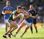 23 June 2018; Evan Regan of Mayo in action against Robbie Kiely of Tipperary during the GAA Football All-Ireland Senior Championship Round 2 match between Tipperary and Mayo at Semple Stadium in Thurles, Tipperary. Photo by Ray McManus/Sportsfile