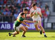 23 June 2018; Mark White of Cork in action against Paul Geaney of Kerry during the Munster GAA Football Senior Championship Final match between Cork and Kerry at Páirc Ui Chaoimh in Cork. Photo by Stephen McCarthy/Sportsfile