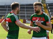23 June 2018; Aidan, right, and Seamus O'Shea in conversation before the GAA Football All-Ireland Senior Championship Round 2 match between Tipperary and Mayo at Semple Stadium in Thurles, Tipperary. Photo by Ray McManus/Sportsfile