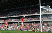 23 June 2018; Mark Collins of Cork scoring his side's second goal during the Munster GAA Football Senior Championship Final match between Cork and Kerry at Páirc Ui Chaoimh in Cork. Photo by Eóin Noonan/Sportsfile