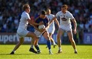 23 June 2018; Michael Quinn of Longford in action against Keith Cribbin, left, and Paul Cribbin of Kildare during the GAA Football All-Ireland Senior Championship Round 2 match between Longford and Kildare at Glennon Brothers Pearse Park in Longford. Photo by Piaras Ó Mídheach/Sportsfile
