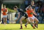 23 June 2018; Gerard O'Kelly Lynch of Sligo in action against Charlie Vernon of Armagh during the GAA Football All-Ireland Senior Championship Round 2 match between Sligo and Armagh at Markievicz Park in Sligo. Photo by Oliver McVeigh/Sportsfile