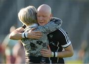 23 June 2018; Charles Harrison of Sligo being consoled by his mother Anne Harrison after playing his last game for Sligo the GAA Football All-Ireland Senior Championship Round 2 match between Sligo and Armagh at Markievicz Park in Sligo. Photo by Oliver McVeigh/Sportsfile