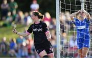23 June 2018; Edel Kennedy of WexfordYouth Womens FC celebrates scoring her side's first goal during the Continental Tyres WNL match between Limerick WFC and Wexford Youths WFC at the University of Limerick in Limerick. Photo by Harry Murphy/Sportsfile