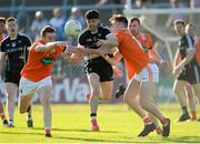 23 June 2018; Nathan Rooney of Sligo in action against Charlie Vernon and Joe McElroy of Armagh during the GAA Football All-Ireland Senior Championship Round 2 match between Sligo and Armagh at Markievicz Park in Sligo. Photo by Oliver McVeigh/Sportsfile