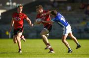 23 June 2018; Brendan McArdle, centre, and Sean Dornan of Down in action against Niall Murray of Cavan during the GAA Football All-Ireland Senior Championship Round 2 match between Cavan and Down at Brewster Park in Enniskillen, Co. Fermanagh. Photo by Barry Cregg/Sportsfile