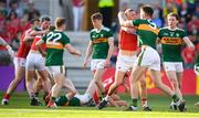 23 June 2018; Sean White of Cork and Jack Barry of Kerry tussle during the Munster GAA Football Senior Championship Final match between Cork and Kerry at Páirc Ui Chaoimh in Cork. Photo by Stephen McCarthy/Sportsfile