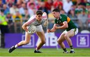23 June 2018; Mark White of Cork in action against Paul Geaney of Kerry during the Munster GAA Football Senior Championship Final match between Cork and Kerry at Páirc Ui Chaoimh in Cork. Photo by Eóin Noonan/Sportsfile