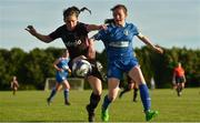 23 June 2018; Aisling Frawley of Wexford Youth Womens FC in action against Lauren Keane of Limerick WFC during the Continental Tyres WNL match between Limerick WFC and Wexford Youths WFC at the University of Limerick in Limerick. Photo by Harry Murphy/Sportsfile