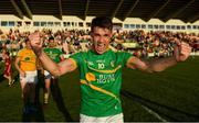 23 June 2018; Darragh Rooney of Leitrim celebrates their victory in the GAA Football All-Ireland Senior Championship Round 2 match between Leitrim and Louth at Páirc Seán Mac Diarmada in Carrick-on-Shannon, Co. Leitrim. Photo by Ramsey Cardy/Sportsfile