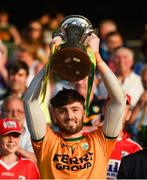 23 June 2018; Kerry captain Shane Murphy lifts the cup following the Munster GAA Football Senior Championship Final match between Cork and Kerry at Páirc Ui Chaoimh in Cork. Photo by Stephen McCarthy/Sportsfile